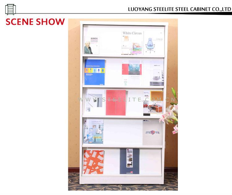 vertical capas cubo blanco abierto del estante de metal de la oficina del gabinete diy