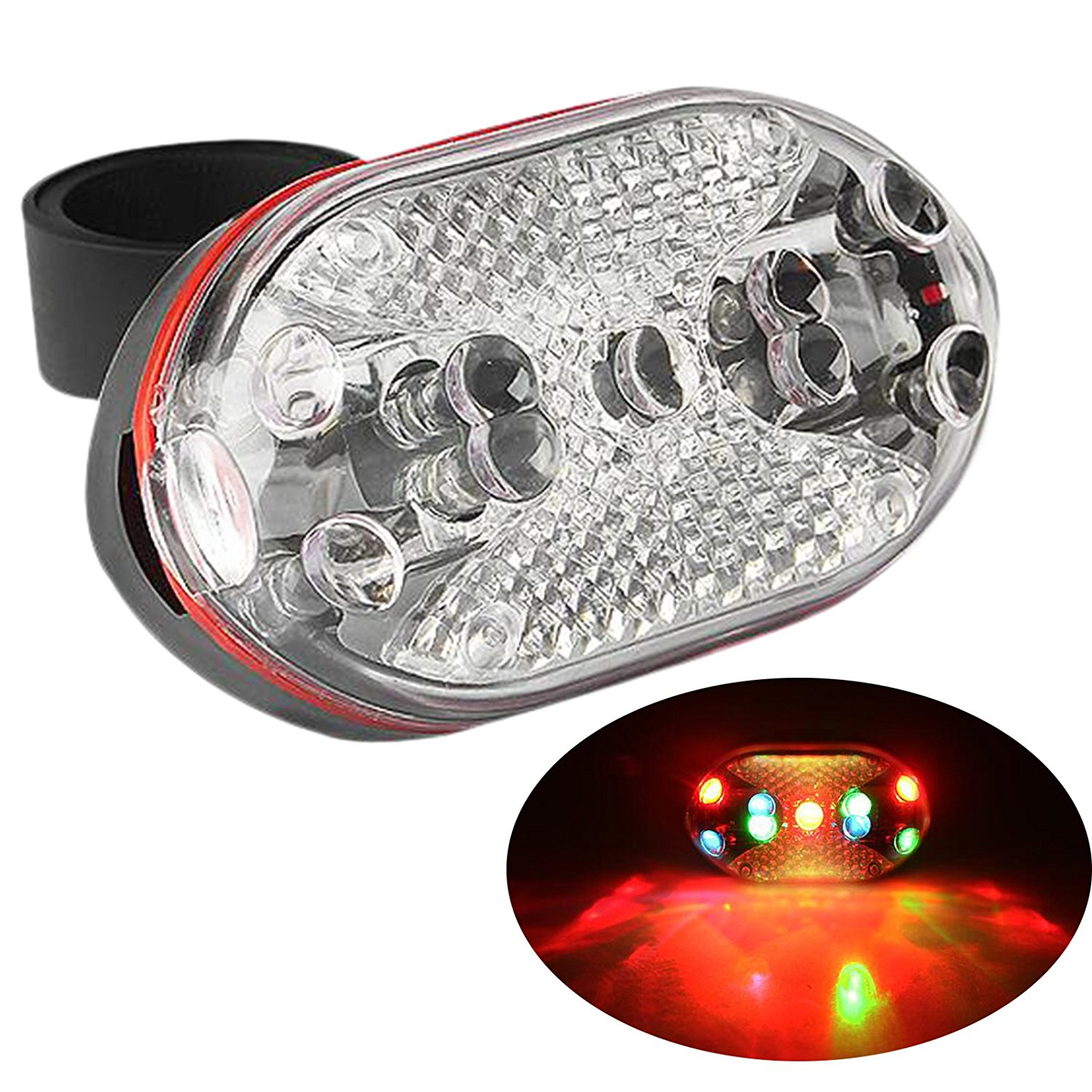 Bike Taillight, 9 Leds Bright Rear Bicycle Tail Light Strap-On Cycling Safety Light For Road, Racing, Mountain