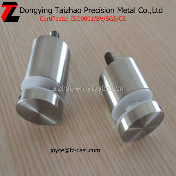 High polished stainless steel glass standoff hardware