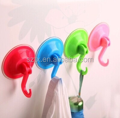 9cm eco friendly plastic removable suction cup hook for wall
