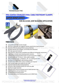 Ppa Coated Stainless Steel Cable Restraint Clamps Buy