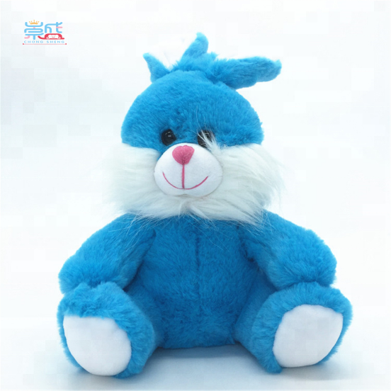 2018 Yangzhou Cheap Wholesale Plush Stuffed Lovely Fashion Blue <strong>Rabbit</strong>