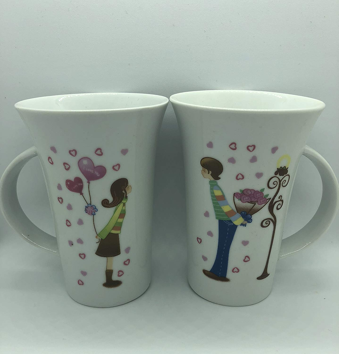 I Love You His and Hers Coffee Mugs- Couple Mugs Set, Girlfriend Gifts, Wife Gifts, Romantic Gifts for Her, Anniversary Gifts for Her/Him, Wedding Gifts for Couple, Couples Gifts, Love Gifts