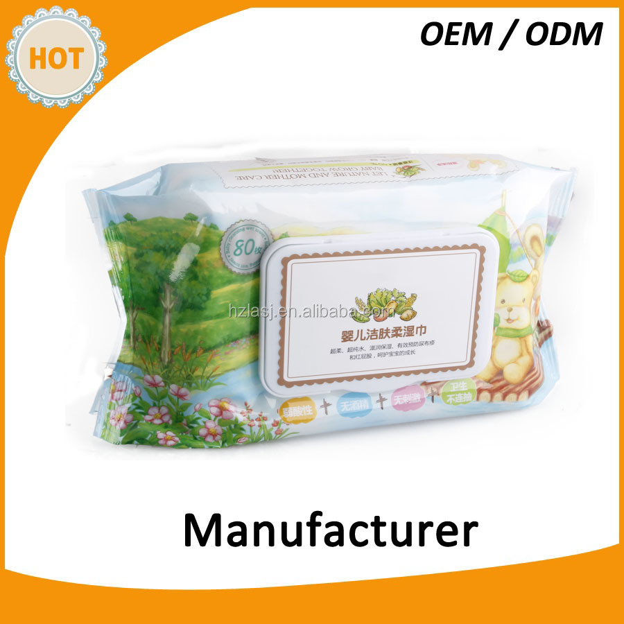 Soft baby care wipes moisturize prevent red bottom