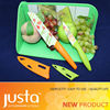 fruit and salad knife with color board