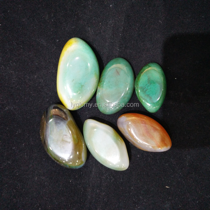 New arrivals 3-5 cm colour Crescent agate Crystal smooth agate from donghai