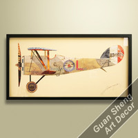 fighter plane shadow box wall art vintage decor