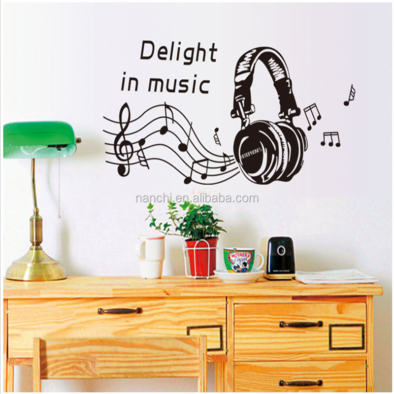 Removable Musiccal Note Wall Stickers Music in Delight Home Decoration Vinyl Mural Art Wall Decals