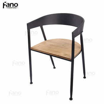 Beau Cheap Waiting Room Chairs Industrial Iron Wood Dining Chair Restaurant  Metal Wood Chair