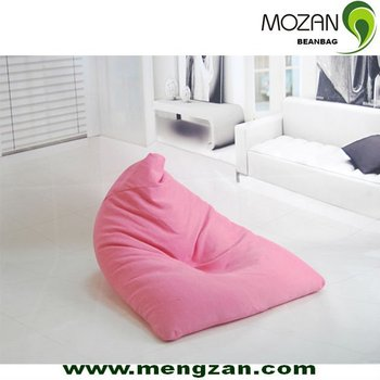 Triangle Shape Modern Floor Chairs With Back Support Mozan Bean Bag