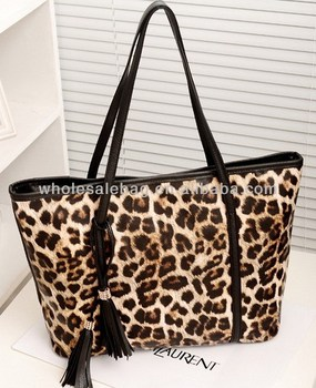 41e3b93740e7 Wholesale Big Leopard Leather Handbag For Lady Leather Woman Hand Bag  Leopard Tote Bag Leather