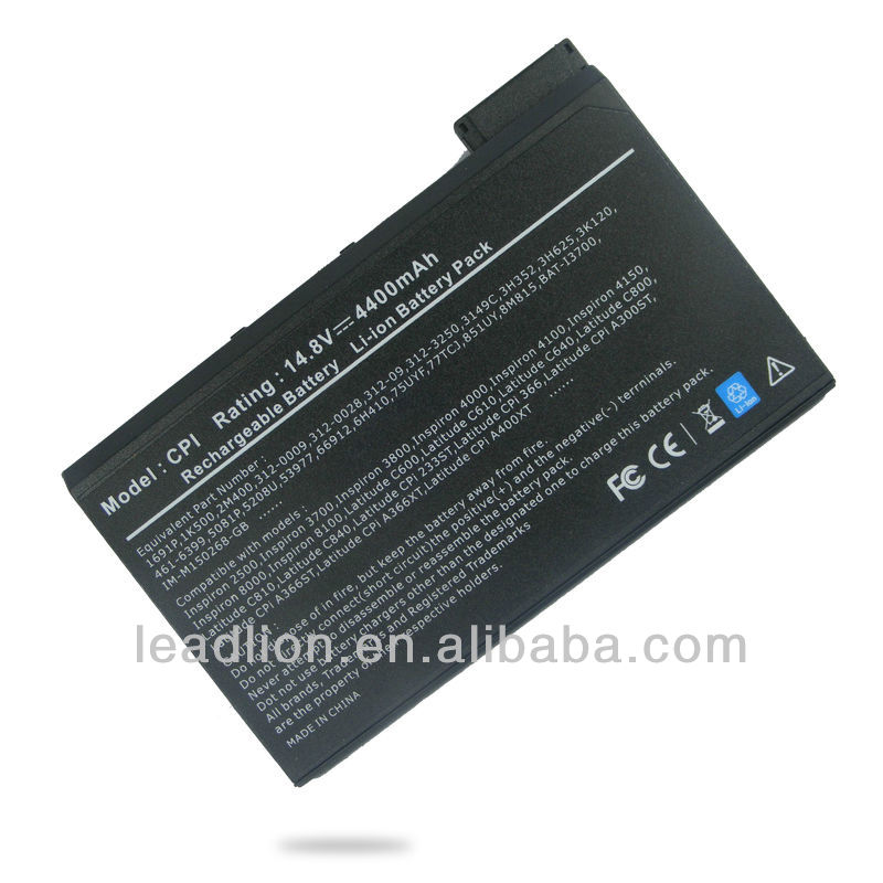 Low price replacement Laptop BATTERY FOR DELL LATITUDE C CP CPI CPX C500 C510
