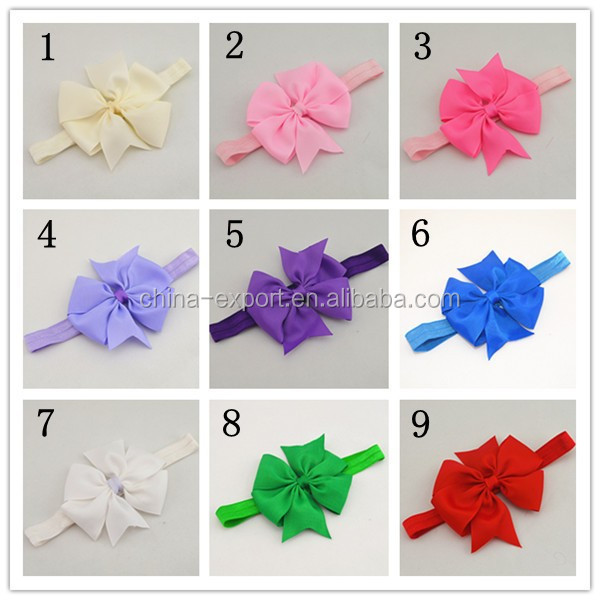 JPHAIR1504319 15pcs Baby Girl Toddler Cloth Flower Bowknot Headband Hair Band Accessories