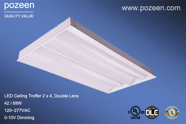 Light Lenses 1x4 : Led recessed troffer retrofit kits with ul cul dlc