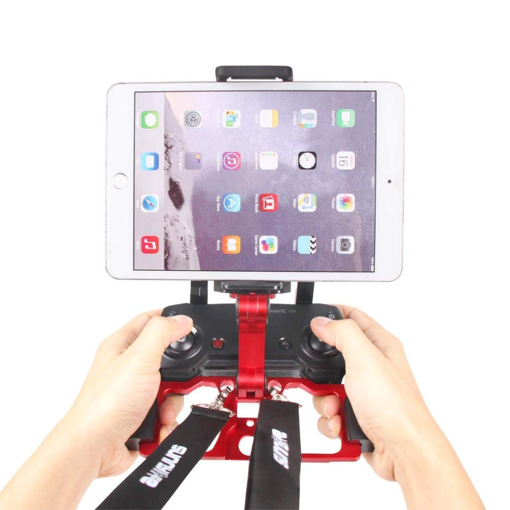 8cdf4e958a1 Get Quotations · Metal Base Foldable Phone Tablet Monitor Holder Mobile Phone  Stand Mount Clip for DJI Mavic Air