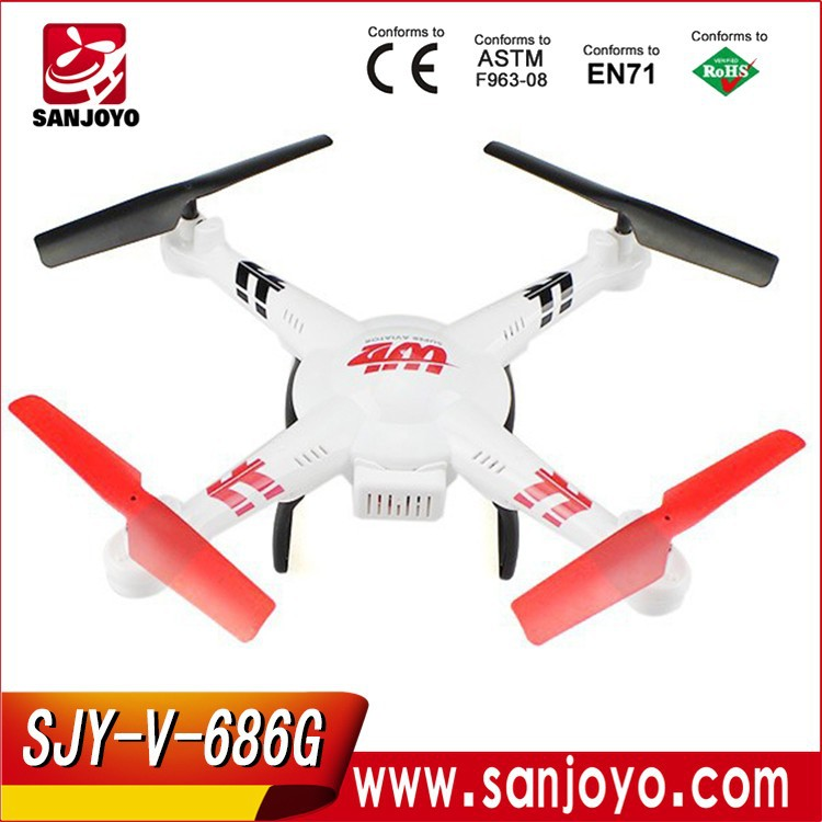 2016 Outdoor quadcopter V686G 2.4G 4CH 6axis Gyro with 2MP HD Camera Screen with LED Lights FPV Headless Mode RC Drone