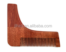 Wood Barber Style Beard Shaping Tool Beard combs