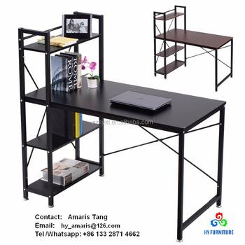 Pleasant Home Office Study Table Computer Desk Compact Desk With 4 Shelves Buy Computer Table With Bookshelf Long Study Computer Table Desk Computer Desk Interior Design Ideas Skatsoteloinfo