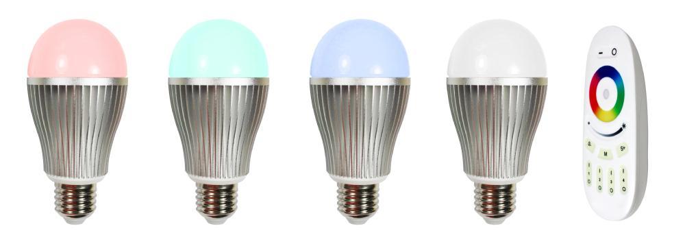 Smart 2.4g Wifi Led Bulb Light 9w Rgb Color Change E27/ E27 Wifi ...