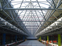 Large span Red Dragon shopping mall super market steel space frame roof systems building in Romania