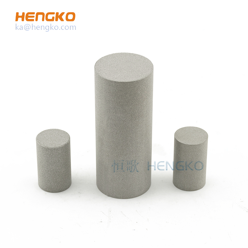 sintered metal stainless steel 316L bronze porous air filtration filter cylinder/candle