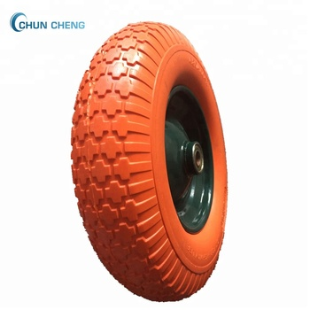 4.00-8 Flat Free Wheelbarrow Tire/4.00-8 Pu Foam Filled Wheel