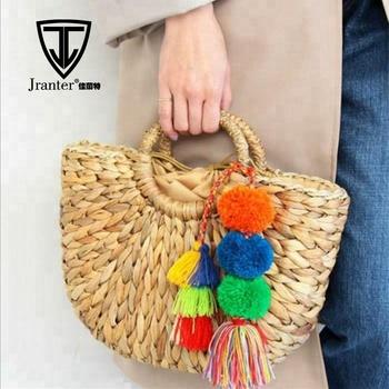 Lady Handwoven Rattan Bag Natural Chic Straw Handbag - Buy Rattan ... 183451b13c476
