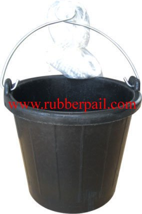 Tanker bucket/Marine bucket,Recycled tyre rubber pail with rope&handle,new products