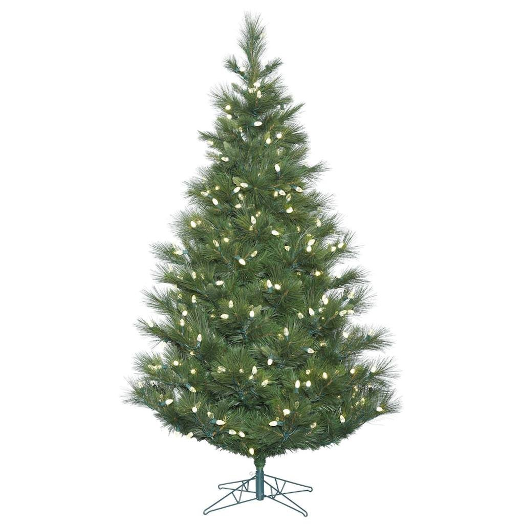 get quotations vickerman 411735 54 norway pine tree with 150 led c7 lights christmas tree