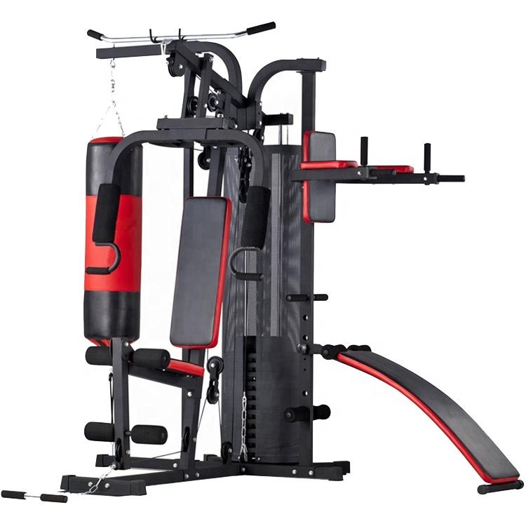 มัลติฟังก์ชั่ฟิตเนสน้ำหนักความแข็งแรงอุปกรณ์กีฬาเครื่อง Home Gym