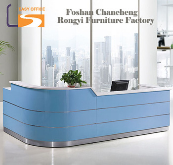 Modern office beauty salon furniture curved office front desk counter