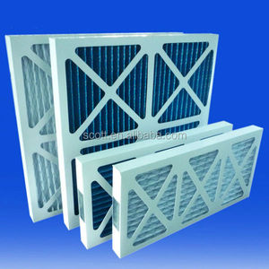 White and green Paper air conditioning filters