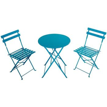 3 Piece Folding Steel Bistro Patio Outdoor Garden Table And Chairs Set Chair Tables