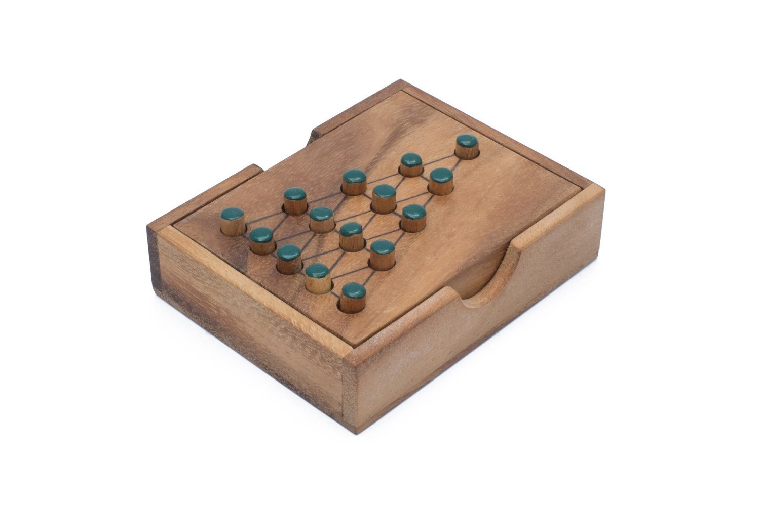 SiamMandalay: Solitaire Tree - Wooden Peg Puzzle Sequential Move One Player Puzzle. 3D Combination Brain Teaser Puzzle with