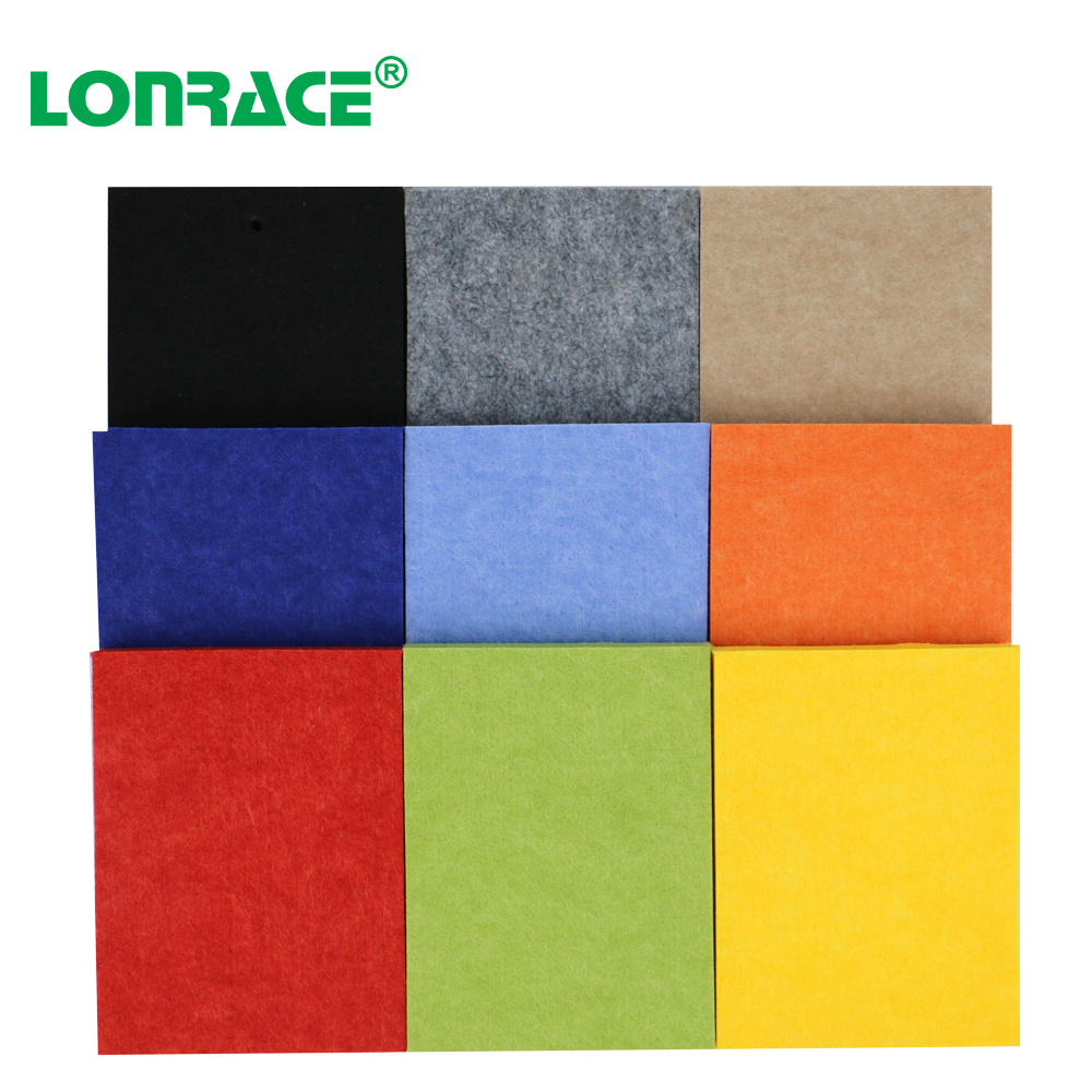 Customized library sound absorption solution PET panel building decoration material Polyester Fiber Acoustic Panels