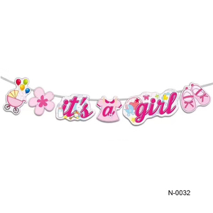 New Invention 2019 It Is A Girl Baby Shower Banner Girl Party Baby Shower Decoration Pink Theme