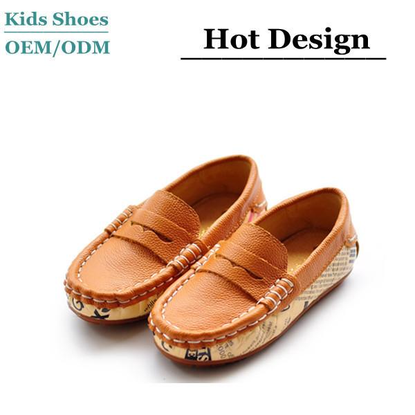 efe1dd53f90 Orange Flat Shoes Hot Sale Children Boy Girl Fancy Casual Shoes Genuine  Leather Boat Shoes