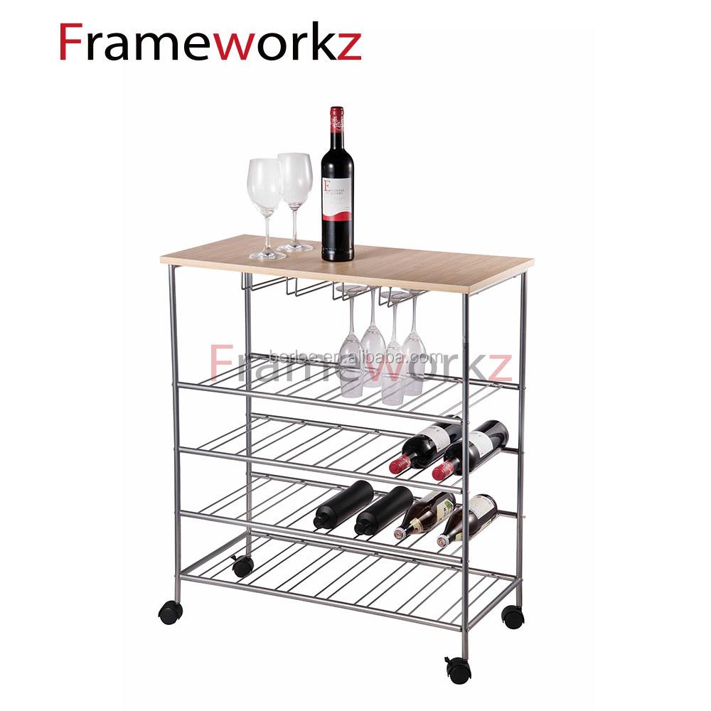 Wine glass holder rack