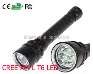 High Power 4000 Lumen 30W 3X XML T6 LED Diving Flashlight Torch Waterproof Underwater Diver LED Flash Light