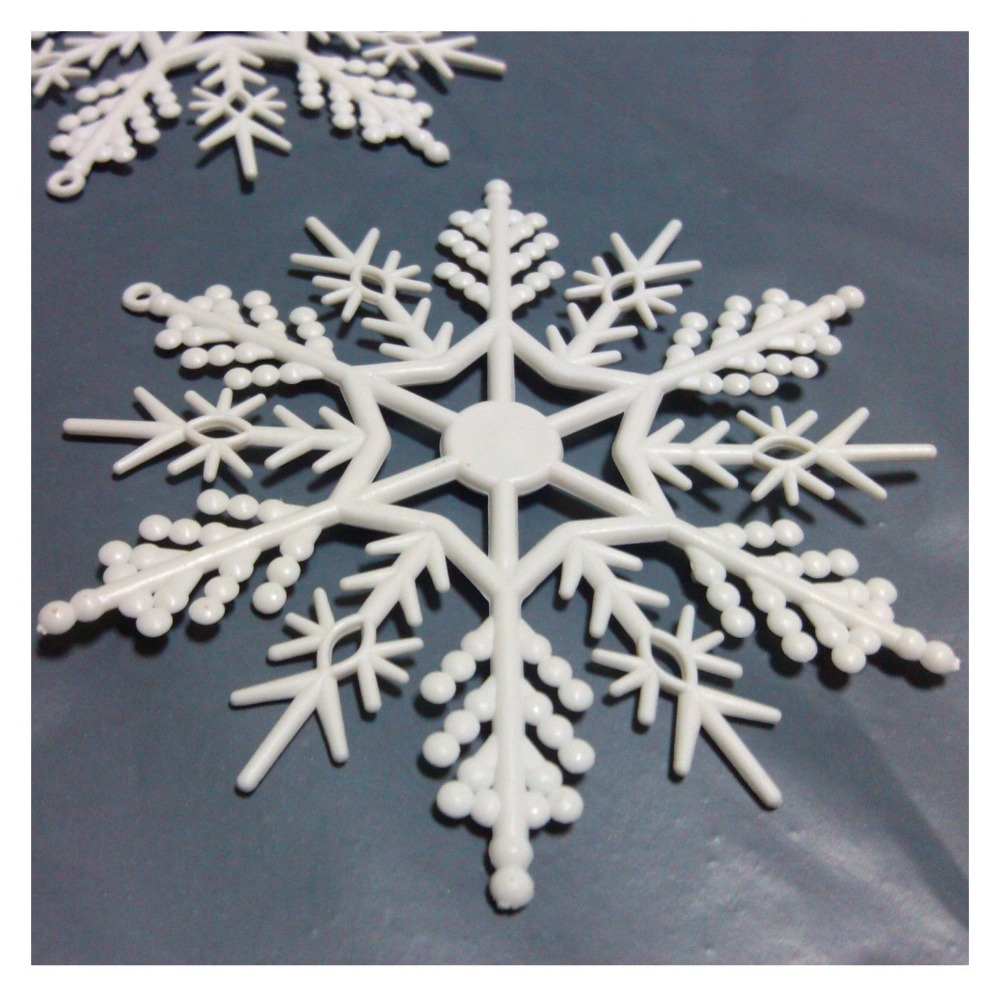 Christmas tree Snowflake White Ornaments Hanging decoration 10cm festival