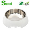 PET hot sale popular cartoon dog bowl stainless steel new style