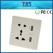 wholesale quick charge 5v 2.1a usb charger, electrical socket usb 220v outlet for eu,uk ,usa