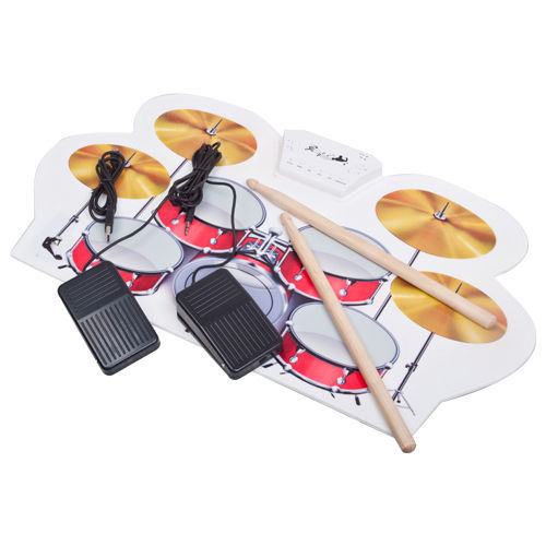 1pc free shipping usb midi drum kit pc desktop roll up electronic drum pad portable with. Black Bedroom Furniture Sets. Home Design Ideas