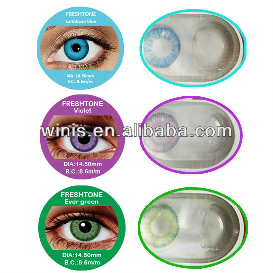 fc8b20fc138aea wholesale Freshtone color contact lens 25 colors cosmetic contact lenses