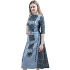 Hot Gray Dress Trendy Plus Size Clothing Woman Sexy Vintage Long Dress For Sale