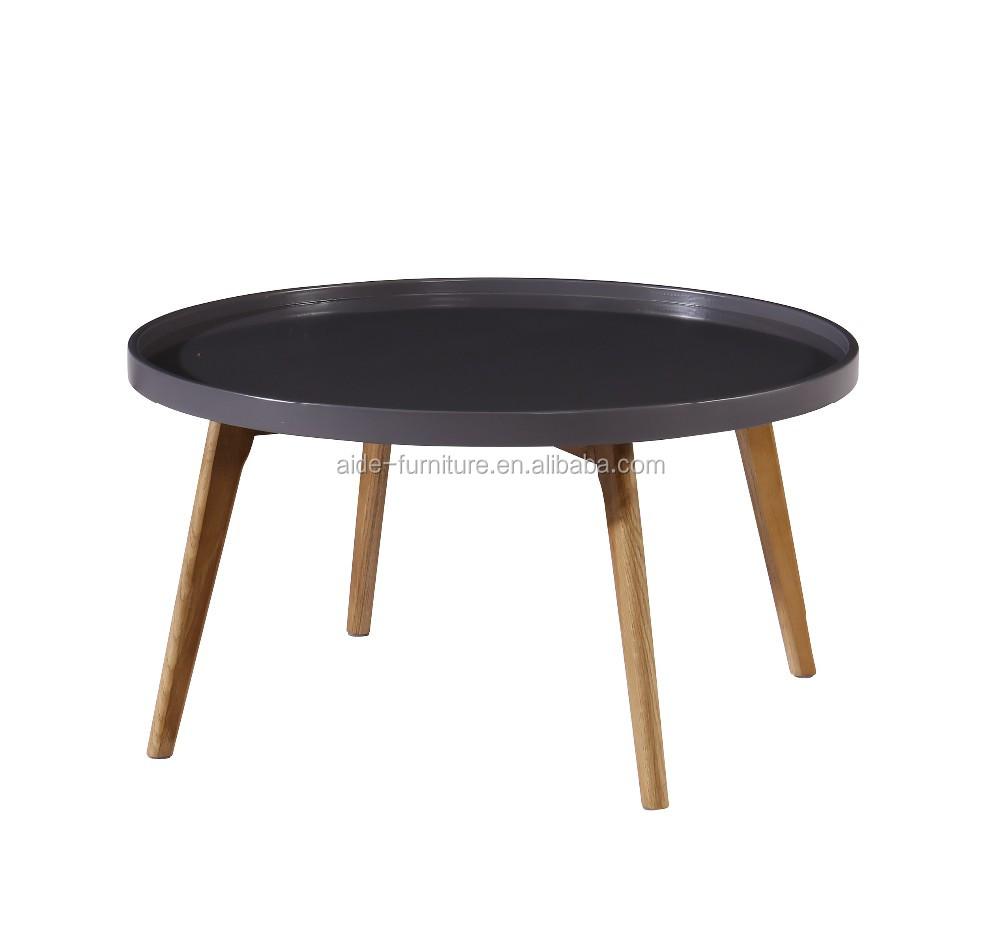 Scandinavian Design Living Room Wooden Sofa Side MDF Coffee Table Set