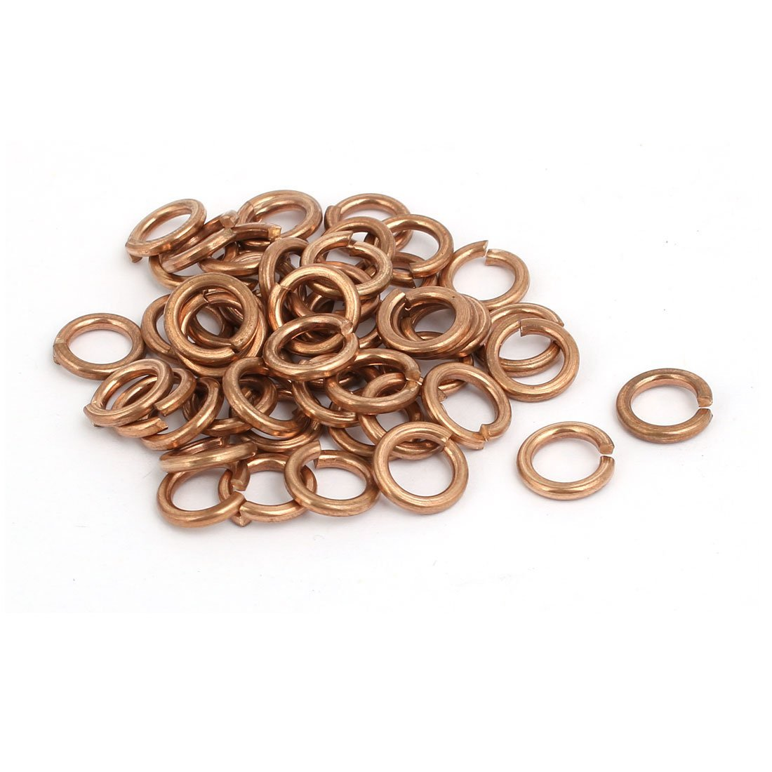 uxcell 6mm Inner Diameter Split Lock Spring Washer Gasket Copper Tone 50pcs