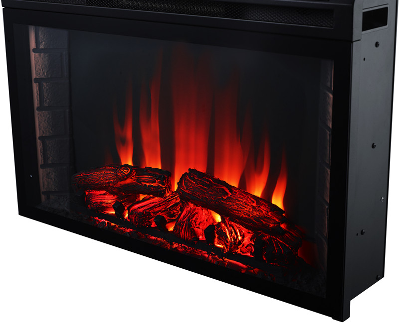 fireplace insert electric faux fake flame