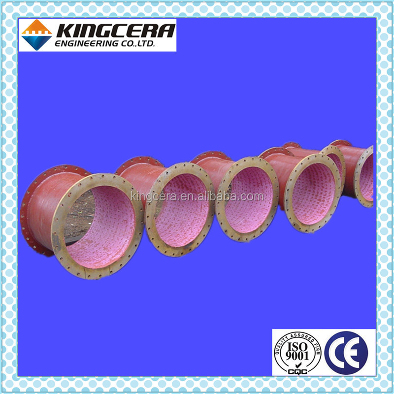 Steel plant coal feeding alumina ceramic lined pipe