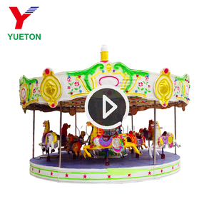 Vintage Park Games Machines Big Cheap Family Rides Theme Park Carnival Kiddie Toy Carousel Horse